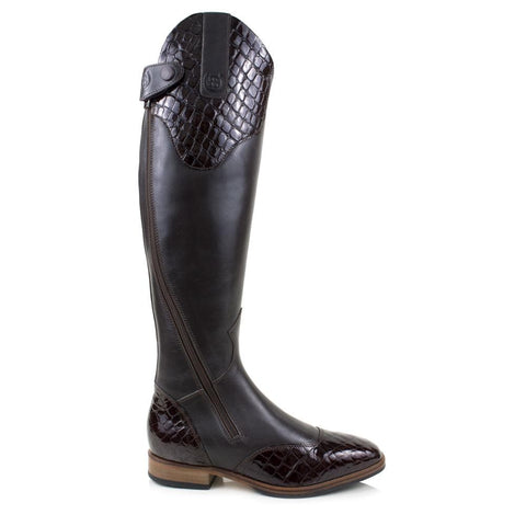 Sovereign Waxed Leather Boots with Tassel - Brown - Made to Measure