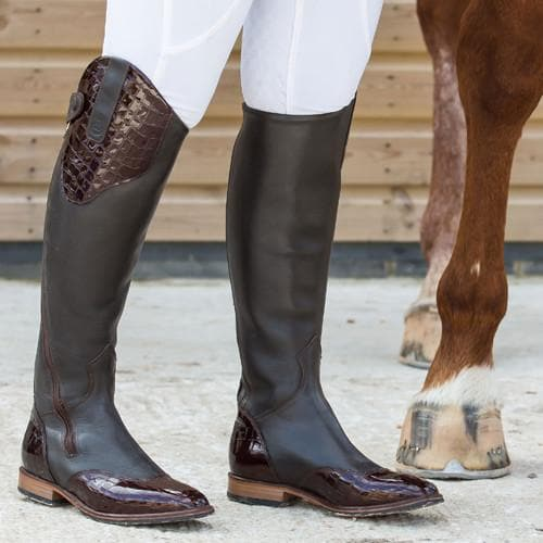 Milan Long Riding Boots - Black - Made to Measure - Bareback Footwear