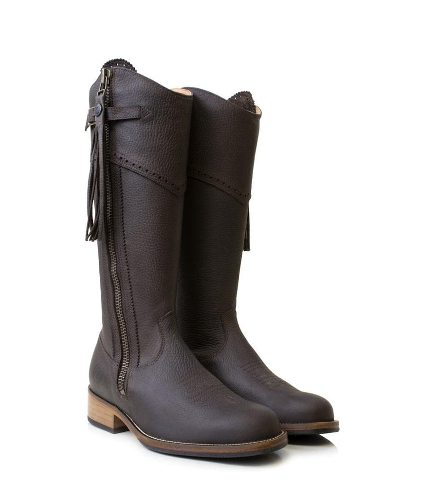 Mustang - Mid Calf Boot -Brown -Made to Measure - Bareback Footwear