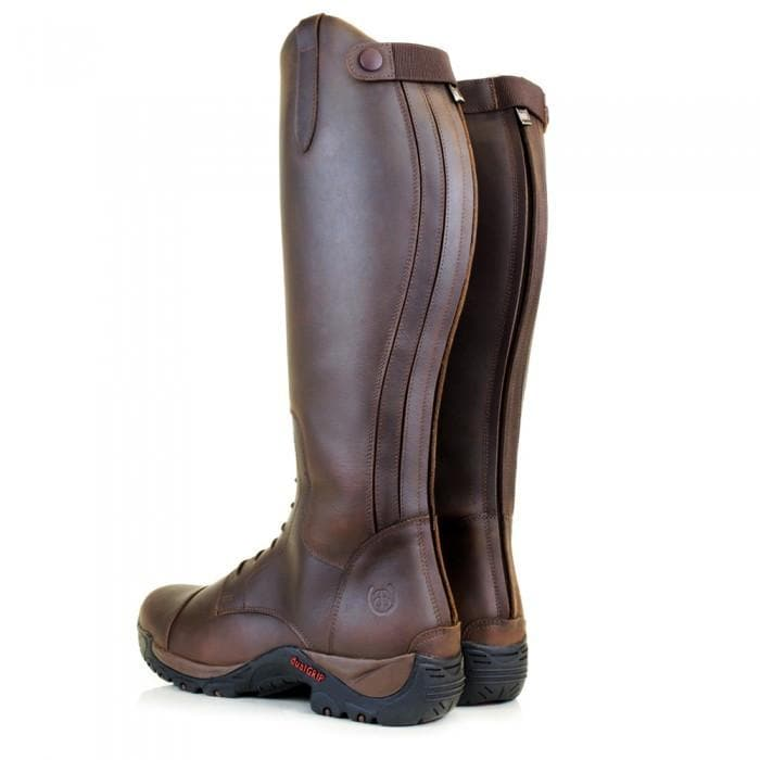 Nebraska waterproof wool lined long riding boot  - Brown - Bareback Footwear