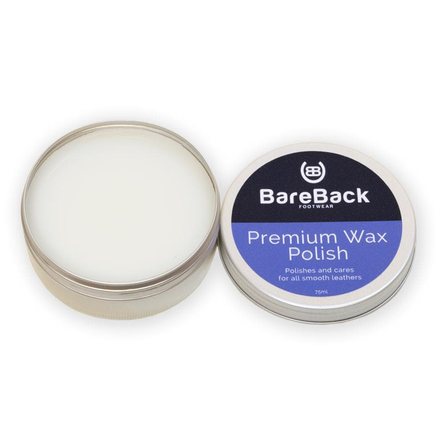 Bareback Footwear Premium Wax Polish- Available in 6 colours 50-75ML - Bareback Footwear