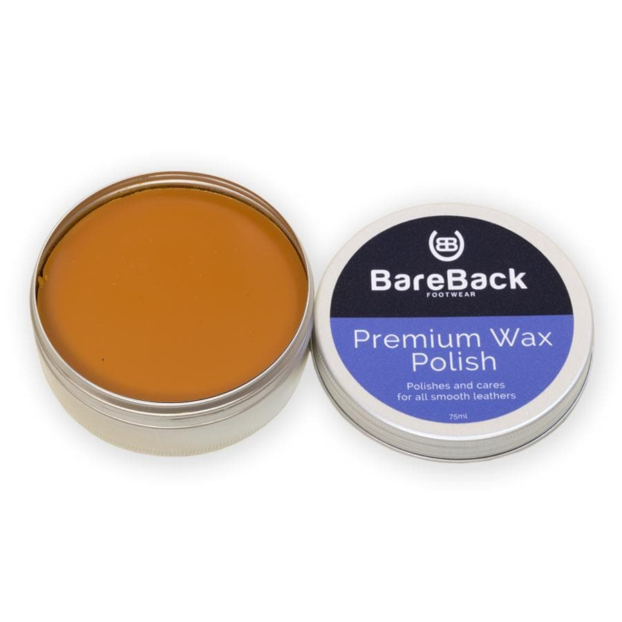 Bareback Footwear Premium Wax Polish- Available in 6 colours 50-75ML