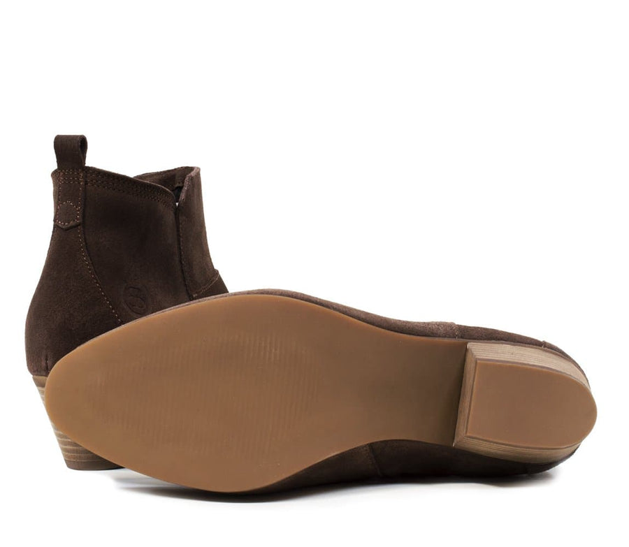 Roxy Suede Boots - Brown - Bareback Footwear