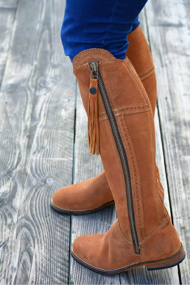 Sovereign Suede Boots with Tassel - Sand
