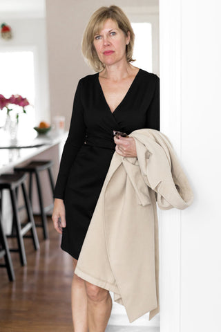 faux wrap dress - dresses for tall women - faux wrap dress for tall women - little black dress