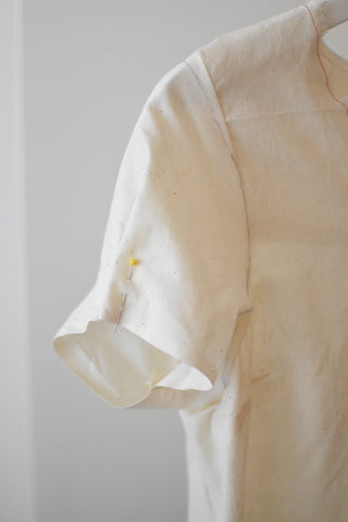 alterations to muslin sample - research and development - made in dc