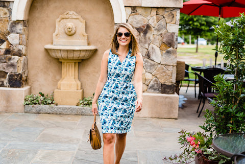 floral sheath dress - floral dress - dress with pockets - made in DC