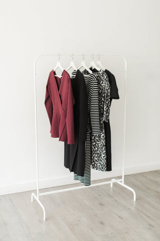 building a curated closet - meghan evans - clothing for tall women - capsul wardrobe