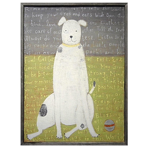 Sugarboo Designs White Boy Dog Art Print - Life onPlum