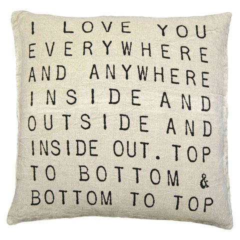 Sugarboo Designs I Love You Everywhere Pillow - Life onPlum