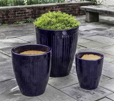 Campania International Montane Short Planter Set of 3 in Sapphire