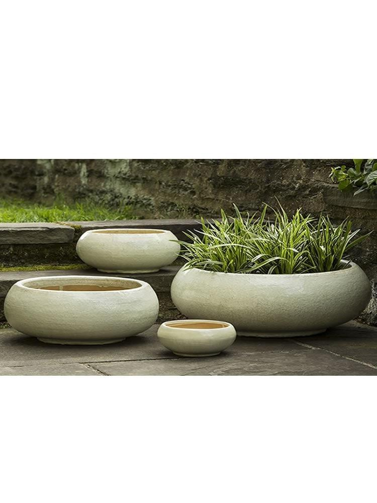 Campania International Misha Planter Set of 4 in Antique Pearl At Home with Beth and Chad