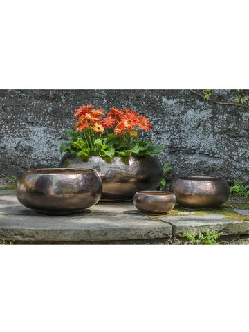 Image of Campania International Misha Planter Set of 4 in Bronze DorÌÎå© At Home with Beth and Chad