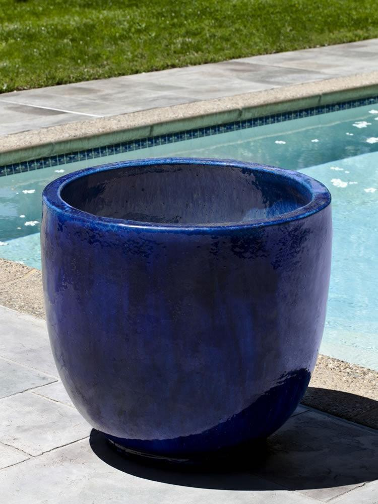 Campania International Sem Planter Set of 4 in Rivera Blue At Home with Beth and Chad