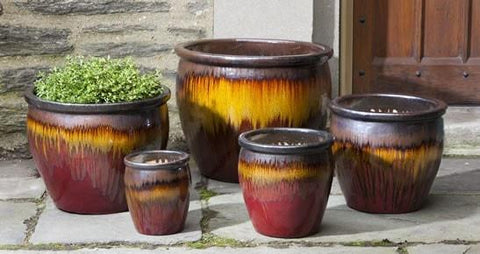 Campania International Mirador Planter Set of 5 in Sierra At Home with Beth and Chad