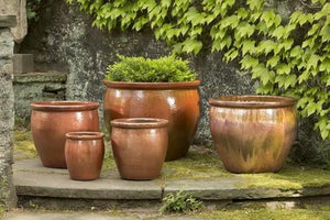 Campania International Mirador Planter Set of 5 in Cayenne At Home with Beth and Chad