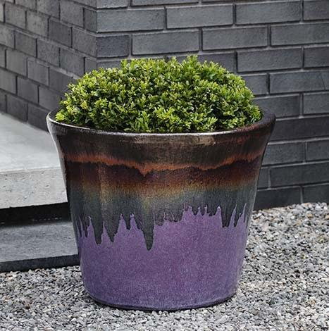 Campania International Delphine Planter Set of 5 in Lava Purple - AtHomewithBethandChad.com
