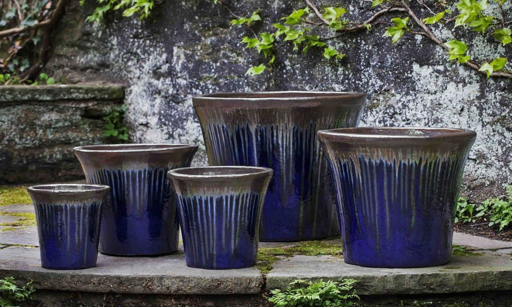 Campania International Delphine Planter Set of 5 in Bronze Sapphire At Home with Beth and Chad