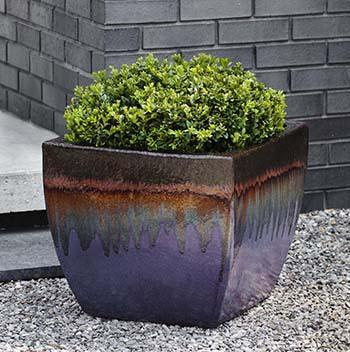 Campania International Lorimar Planter Set of 3 in Lava Purple