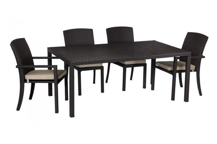 Sunset West Solana Rectangle Outdoor Dining Table Set