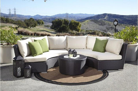 Image of Sunset West Solana Half Round Outdoor Sofa Collection