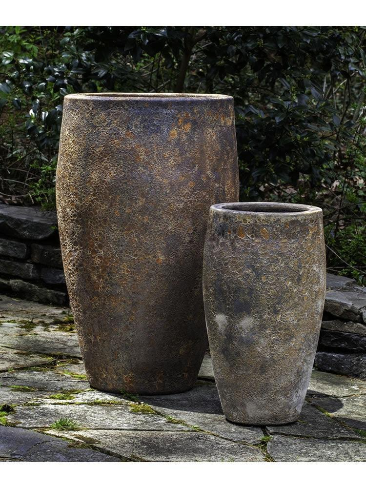 Campania International Ta Som Planter Set of Two in Angkor The Garden Gates