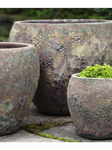 Image of Campania International Symi Planter Set of 3 in Green Mist At Home with Beth and Chad