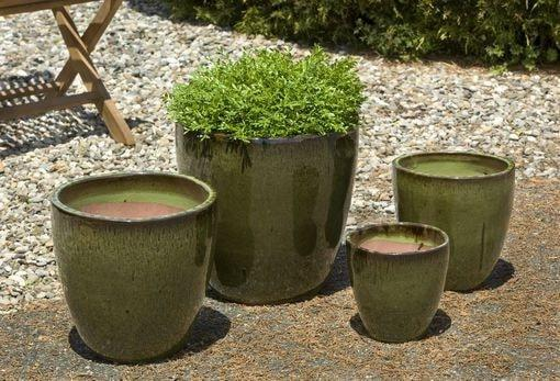 Campania International Lundi Planter Set of 4 in Lichen - AtHomewithBethandChad.com