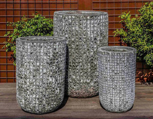 Campania International Fossil Grey Escada Tall Planter - Set of 3