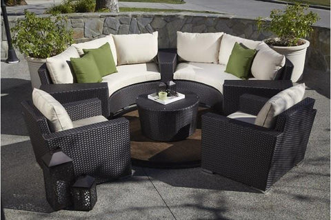 Image of Sunset West Solana Half Round Outdoor Sofa and Chair Collection