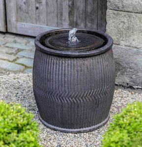 Campania International Rain Barrel Fountain-Bronze