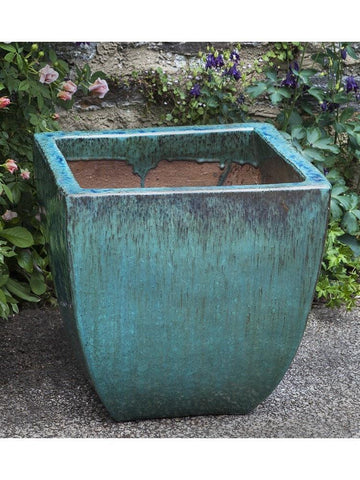 Campania International Mika Square Planter Set of 3 in Weathered Copper At Home with Beth and Chad