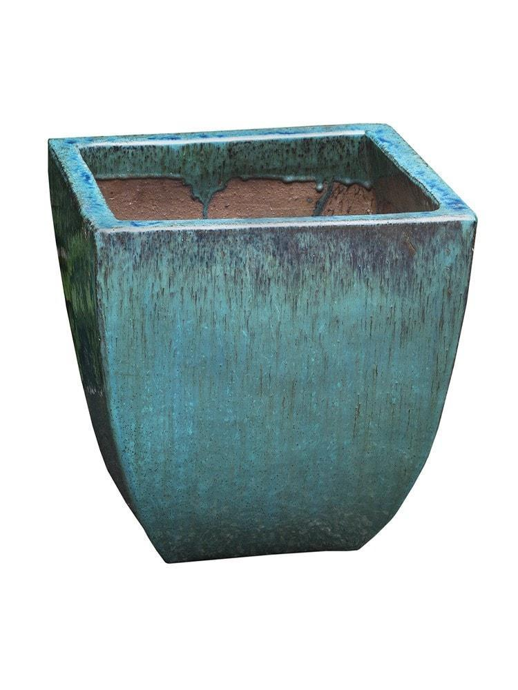 Campania International Mika Square Planter Set of 3 in Weathered Copper - AtHomewithBethandChad.com