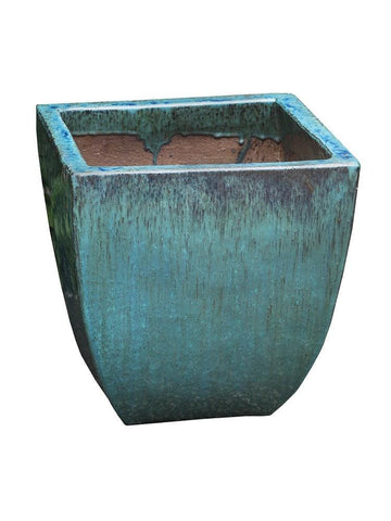 Campania International Mika Square Planter Set of 3 in Weathered Copper