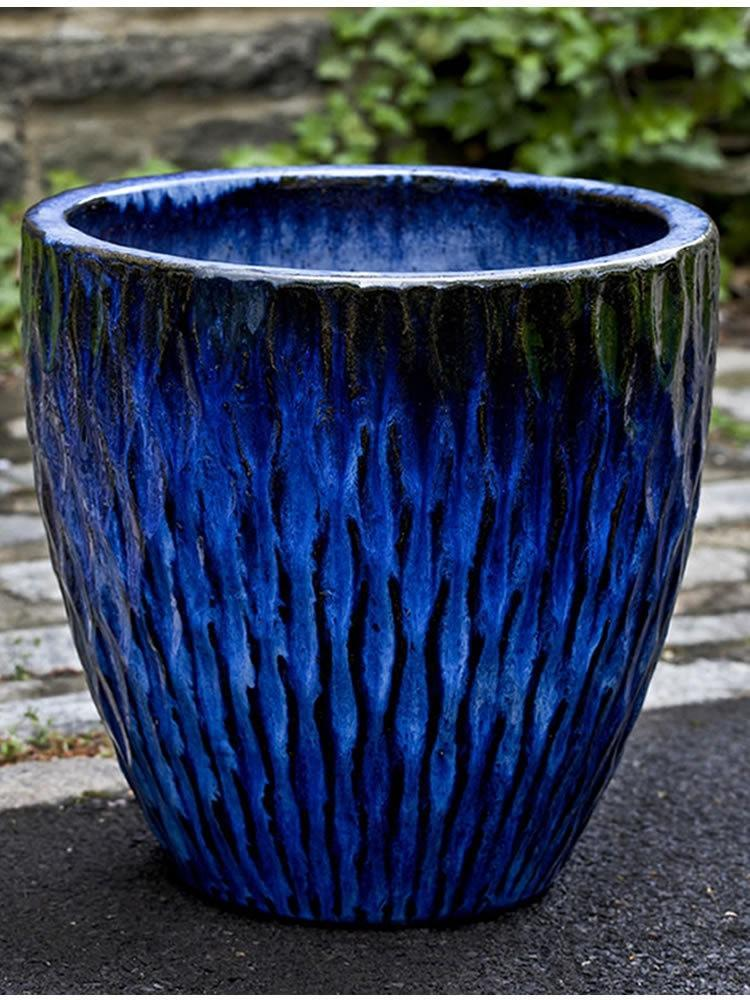 Campania International Toluca Planter Set of 3 in Rivera Blue - AtHomewithBethandChad.com