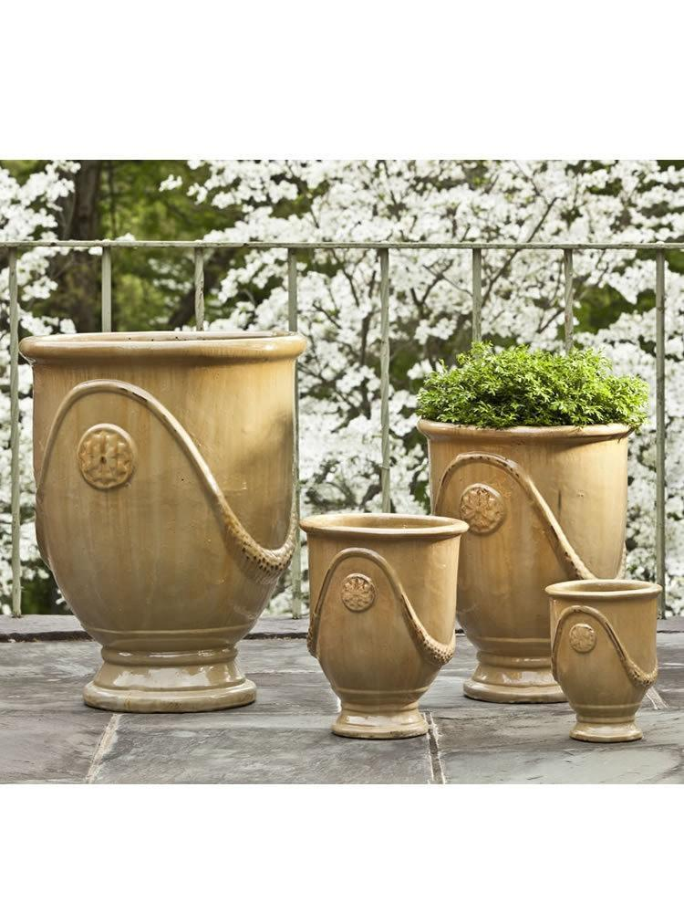 Campania International Anduze Urn Set of 4 in Butter Cream - AtHomewithBethandChad.com