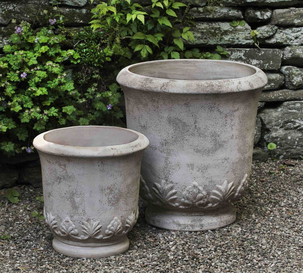 Campania International Gulf Planter Set of 2 in Antico Terra Cotta At Home with Beth and Chad