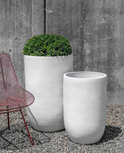 Campania International White Cole Planter - Set of 2