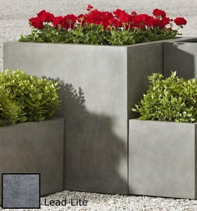 Campania International Modular Lite Planter 5 in Lead Lite At Home with Beth and Chad