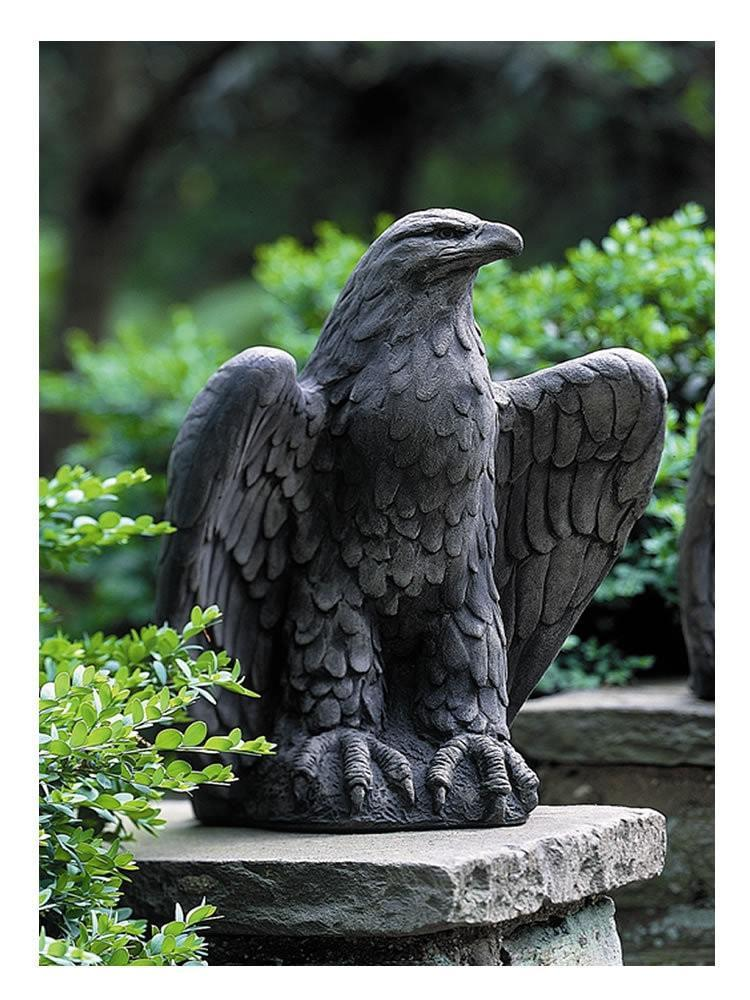 Campania International Eagle Looking Left Garden Statue - AtHomewithBethandChad.com