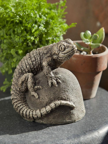 Image of Campania International Ike the Lizard Garden Statue At Home with Beth and Chad