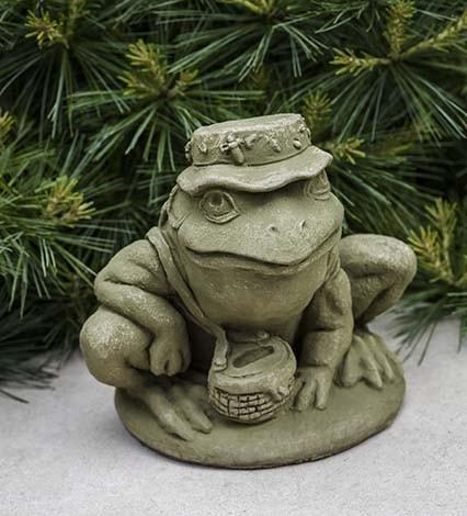 Campania International Fisherman Frog Garden Statue The Garden Gates
