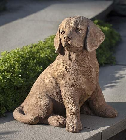 Campania International Golden Retriever Puppy Garden Statue - AtHomewithBethandChad.com