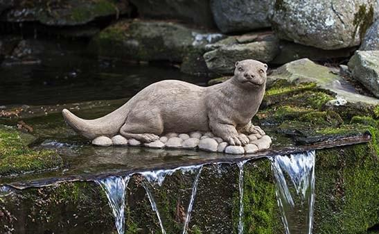 Campania International River Otter Garden Statue At Home with Beth and Chad