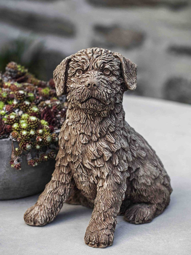 Campania International Terry Dog Garden Statue At Home with Beth and Chad