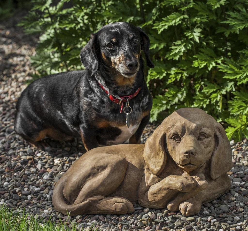 Campania International Finder's Keepers Dachshund Garden Statue At Home with Beth and Chad