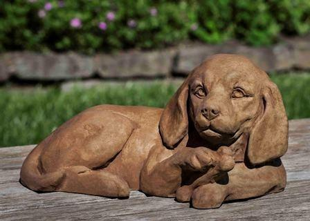 Image of Campania International Finder's Keepers Dachshund Garden Statue At Home with Beth and Chad