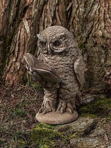 Image of Campania International Scholarly Owl Garden Statue At Home with Beth and Chad