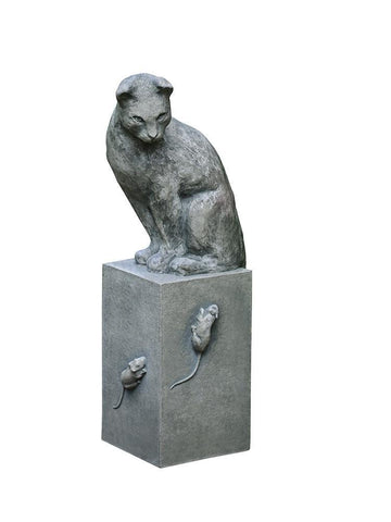 Image of Campania International Cat and Mouse Garden Statue - AtHomewithBethandChad.com