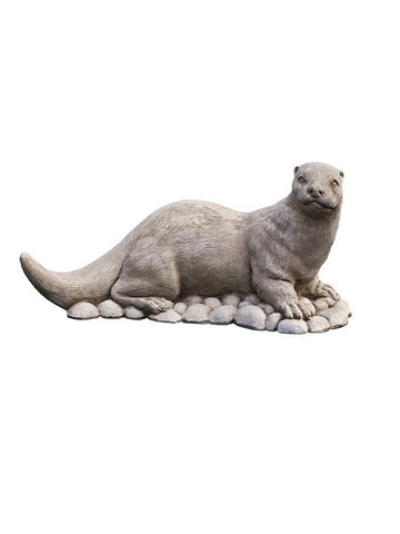 Image of Campania International River Otter Garden Statue At Home with Beth and Chad